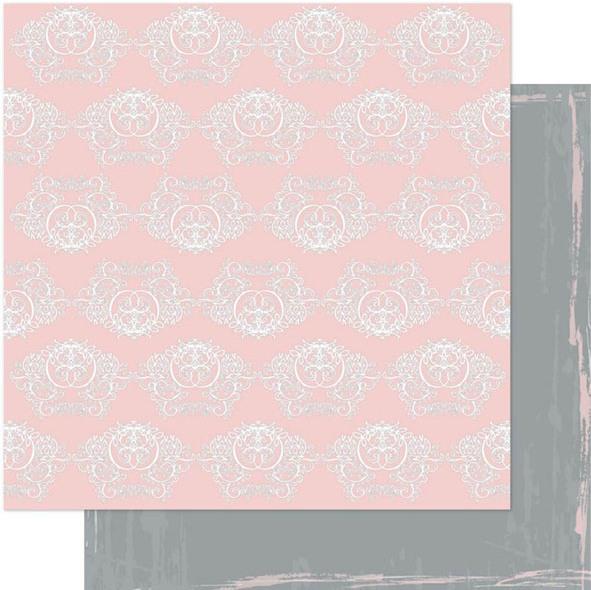 Двусторонняя перламутровая бумага Elegance/Pink 30х30 см от Ruby Rock-it