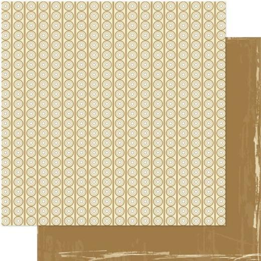 Двусторонняя бумага Rings/Gold 30х30 см от Ruby Rock-it