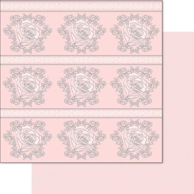 Двусторонняя перламутровая бумага Rose/Pink 30х30 см от Ruby Rock-it