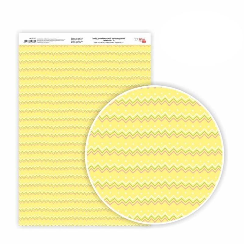 Бумага дизайнерская односторонняя Sweet Girl 4, 21х29,7 см, глянцевый, 250 г / м2, ROSA TALENT