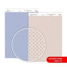 Бумага дизайнерская двусторонняя матовая, Кружево 1, 21х29,7 см, 200 г/м2, Rosa Talent