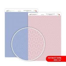 Бумага дизайнерская двусторонняя матовая, Кружево 6, 21х29,7 см, 200 г/м2, Rosa Talent