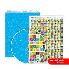 Бумага дизайнерская двусторонняя матовая, Color style 2, 21х29,7 см, 200 г/м2, Rosa Talent