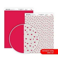 Бумага дизайнерская двусторонняя матовая, Love 5, 21х29,7 см, 200 г/м2, Rosa Talent