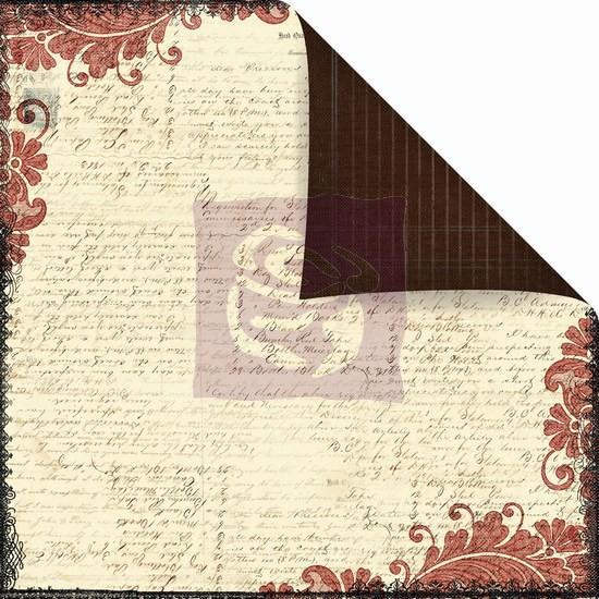 Двусторонняя бумага Scribe 30х30 см от Prima