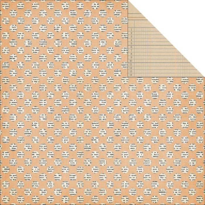 Двусторонняя текстурная бумага Dots 30х30 см от Teresa Collins