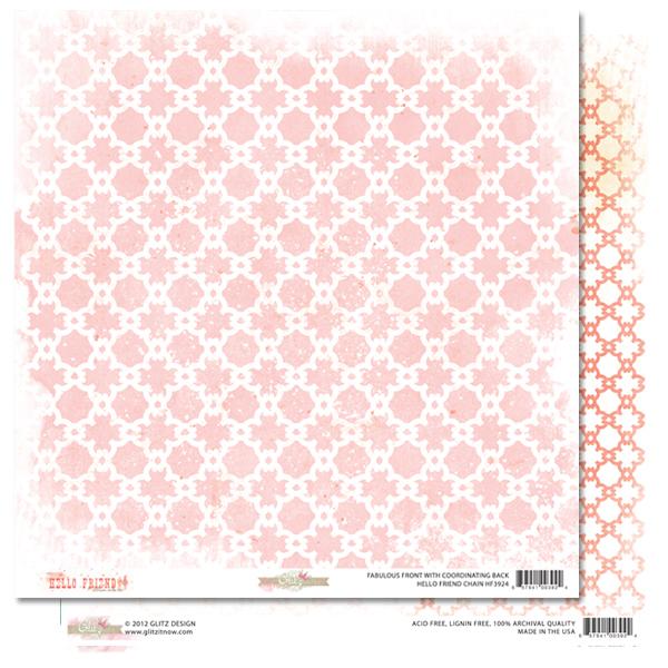 Двусторонняя бумага для скрапбукинга Chain 30х30 см от Glitz Design