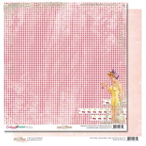 Двусторонняя бумага для скрапбукинга Gingham 30х30 см от Glitz Design