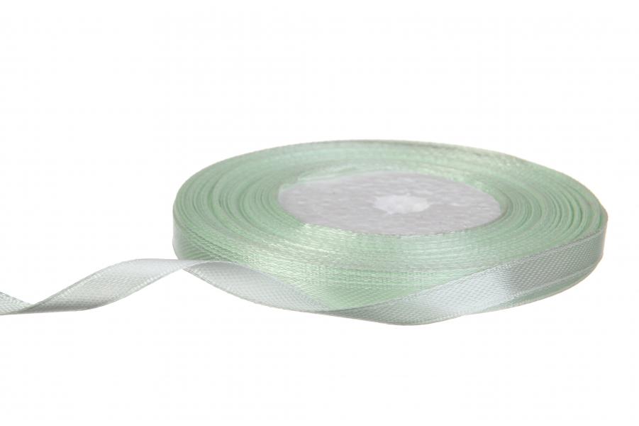 Атласная лента, рулон, #50, салатовый, 7 мм, 23 м