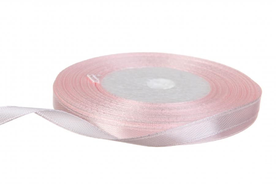 Атласная лента, рулон, #68, бледно-розовый, 7 мм, 23 м