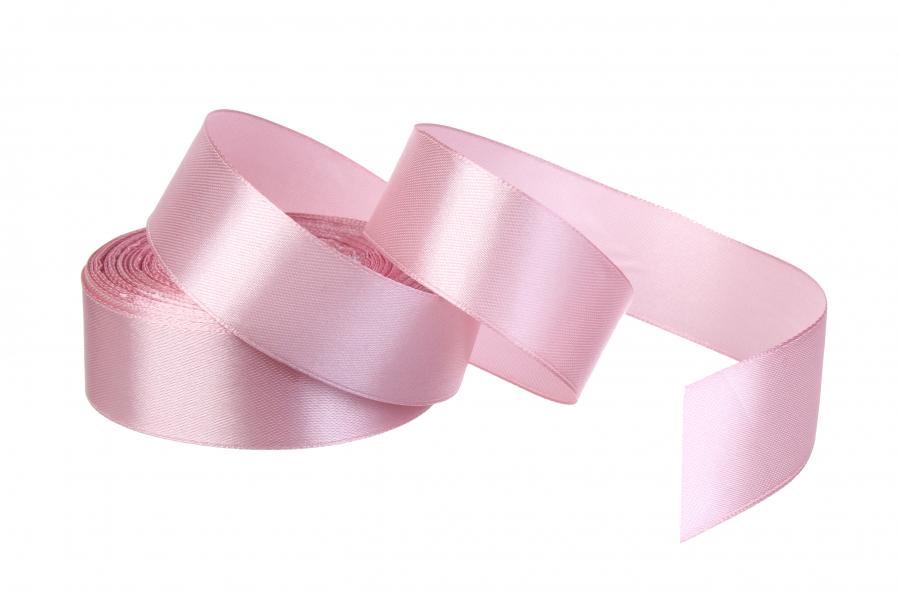 Атласная лента, рулон, #135, розово-сиреневый, 25 мм, 23 м