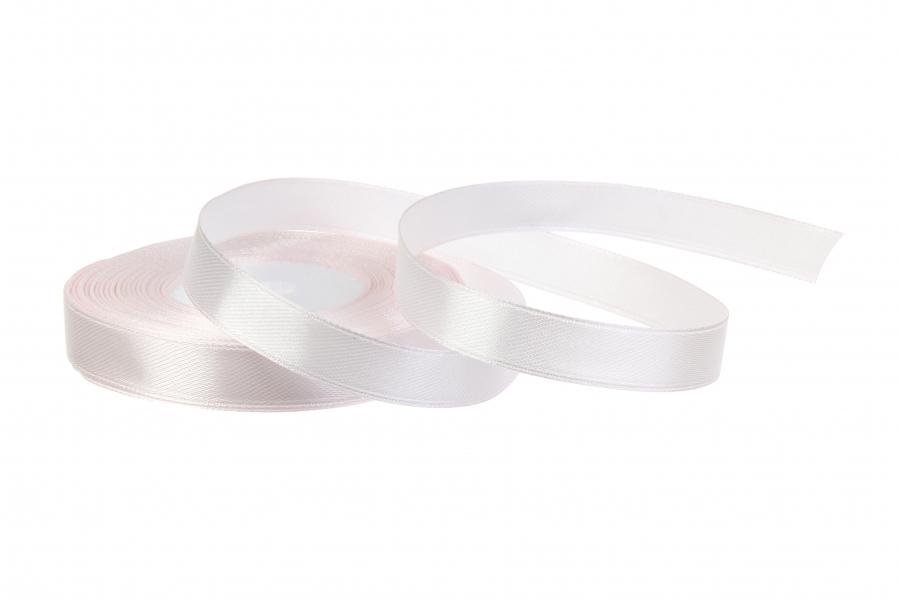 Атласная лента, рулон, #119, бледный розовый, 12 мм, 23 м