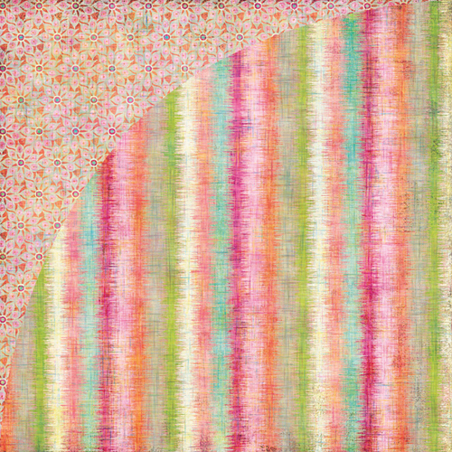 Двусторонняя бумага для скрапбукинга Edgy Stripe 30х30 см от Basic Grey