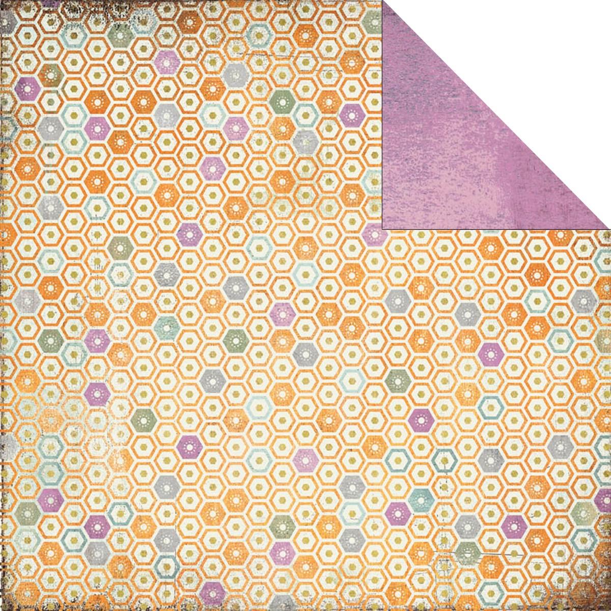 Двусторонняя бумага для скрапбукинга Moonstone 30х30 см от Basic Grey