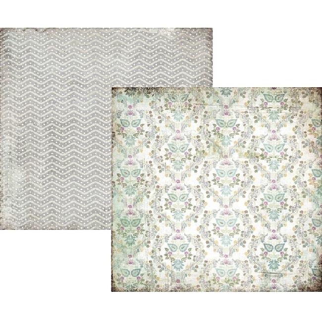 Двусторонняя бумага для скрапбукинга Silver Springs 30х30 см от Basic Grey