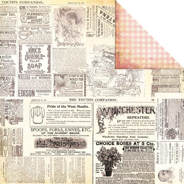 Двусторонняя бумага Collage 30х30 см от Fancy Pants