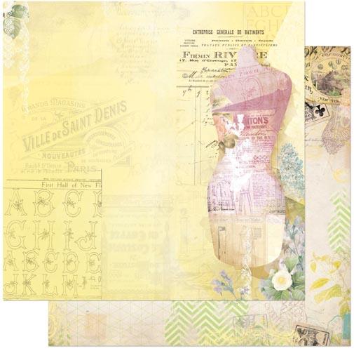 Двусторонняя бумага для скрапбукинга C'est la Vie 30х30 см от Bo Bunny