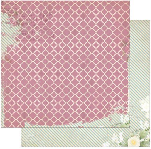 Двусторонняя бумага для скрапбукинга La Vie en Rose 30х30 см от Bo Bunny