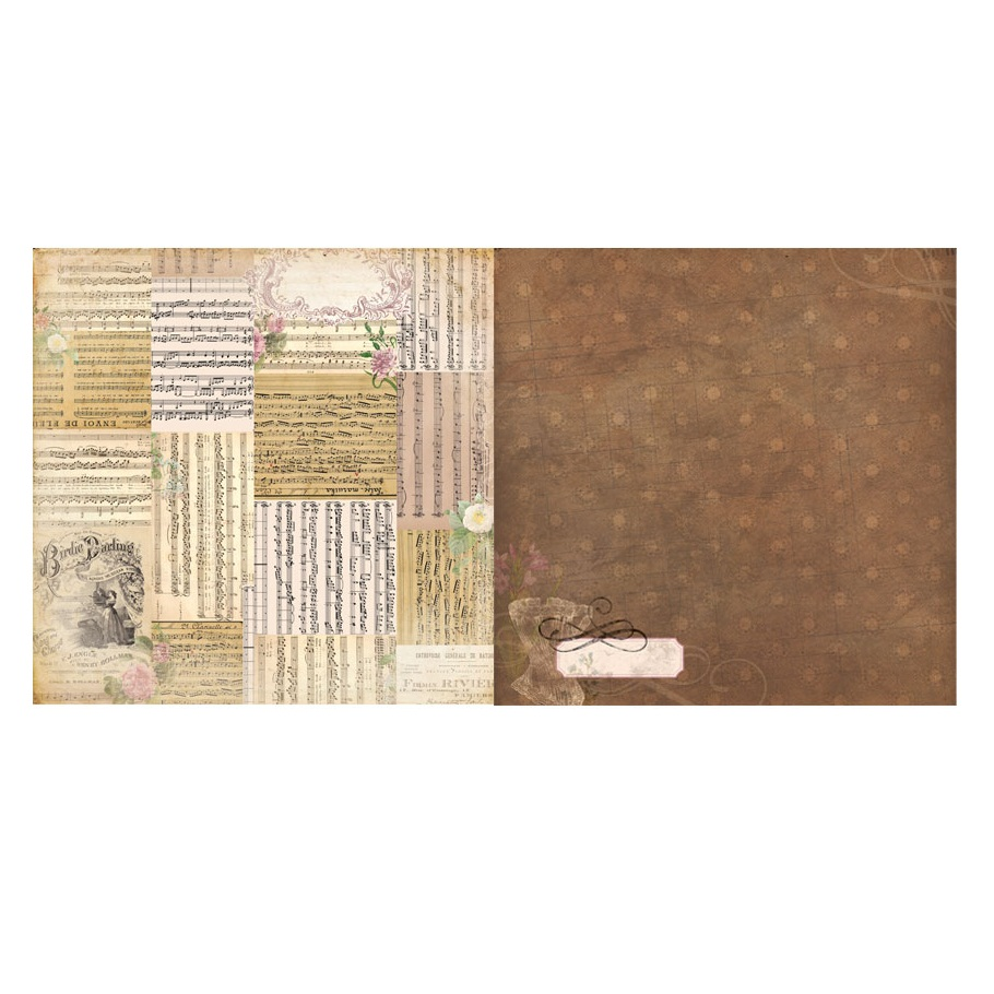 Двусторонняя бумага для скрапбукинга C'est la vie Voila 30х30 см от Bo Bunny