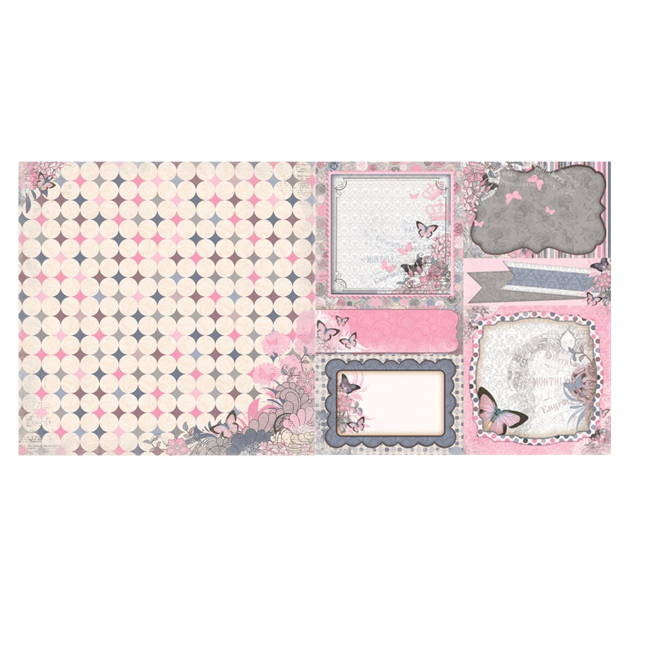 Двусторонняя бумага для скрапбукинга Felicity 30х30 см от Bo Bunny