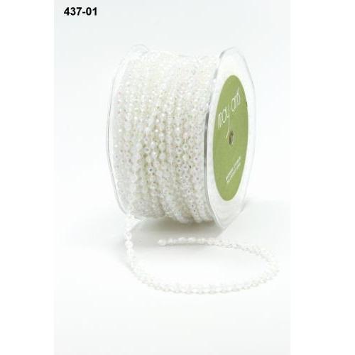 Бусины на нити белого цвета от May Arts, 90 см