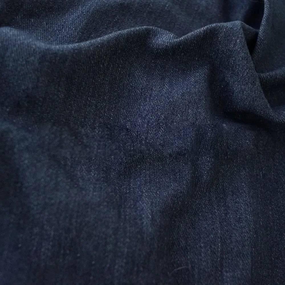 Джинсовая ткань, стираный деним, темно-синий, 98% хлопок, 300г/м2, 50x50 см