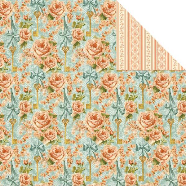 Двусторонняя бумага Coming Up Roses 30х30 см от Graphic 45