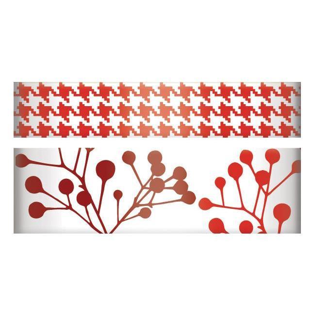 Бумажный скотч с узором красного цвета от We R Memory Keepers, 15 мм и 10 мм