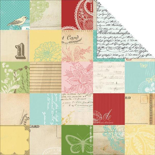 Двусторонняя бумага Dear Jane 30х30 см от Carta Bella
