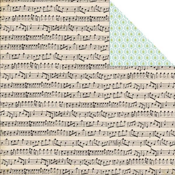 Двусторонняя бумага Musical Score 30х30 см от Carta Bella