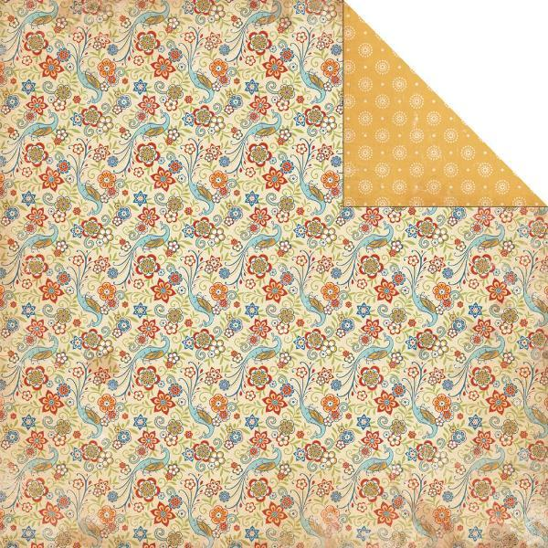 Двусторонняя бумага Fresh Flourish 30х30 см от Carta Bella
