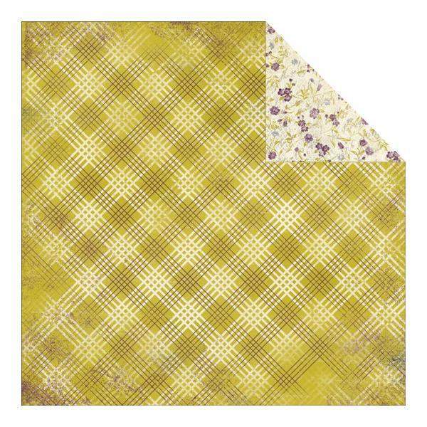 Двусторонняя бумага Diagonal Plaid 30х30 см от Authentique Paper