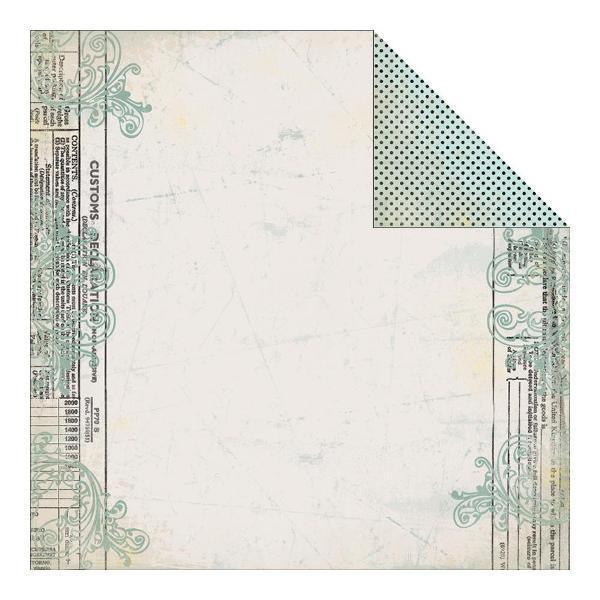 Двусторонняя бумага Transform - Declaration Flourish 30х30 см от Authentique Paper