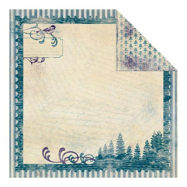 Двусторонняя бумага Winter 1 30х30 см от Authentique Paper