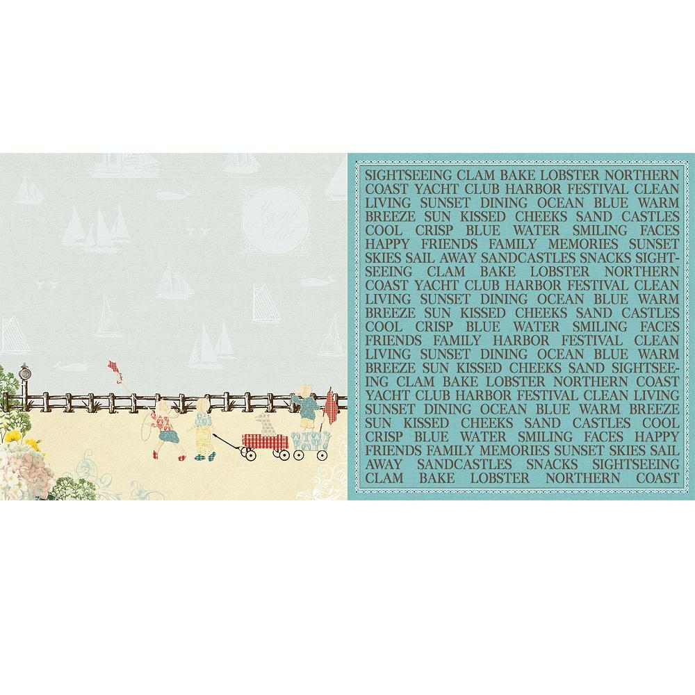 Двусторонняя бумага Boardwalk 30х30 см от Webster's Pages