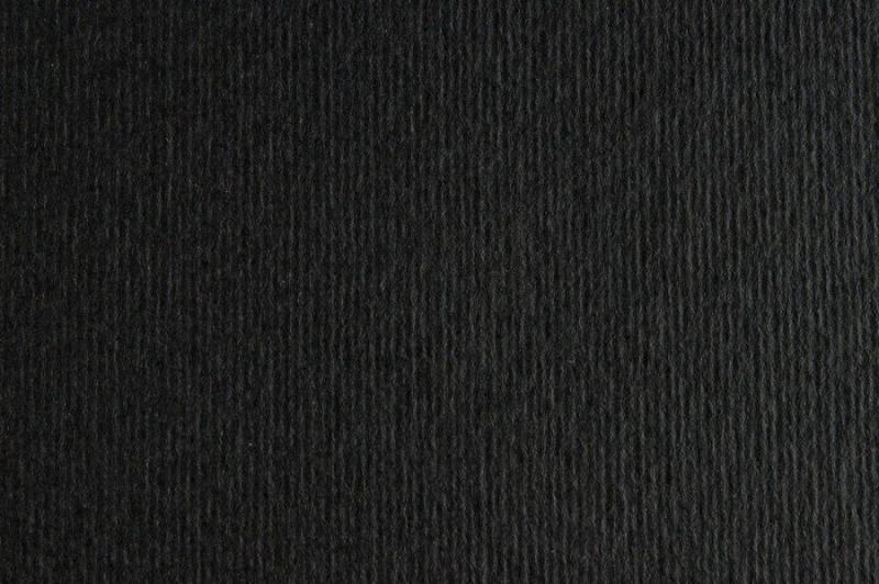 Бумага для дизайна Elle Erre А3 (29,7 * 42см), №15 nero, 220г/м2, черный, две текстуры, Fabriano