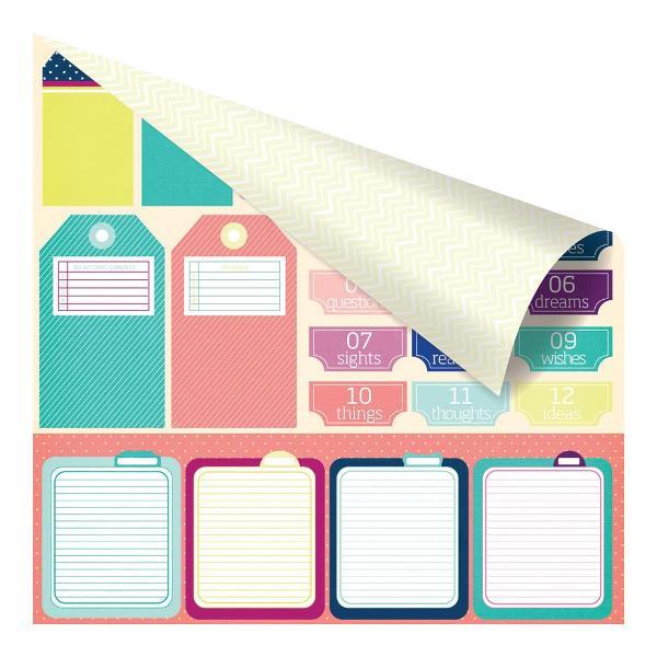 Двусторонняя бумага Carpe Diem 30x30 см от Prima