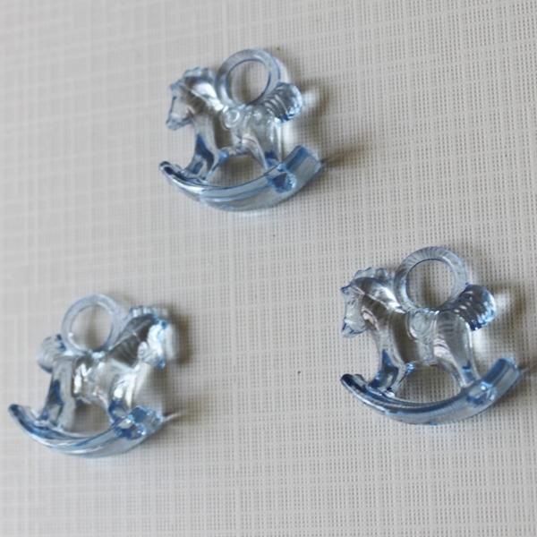 """Акриловая подвеска """"Лошадка"""" синего цвета, 29х27х10 см"""