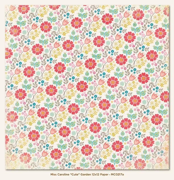 Двусторонняя бумага Cute Garden 30х30 см от My Mind's Eye