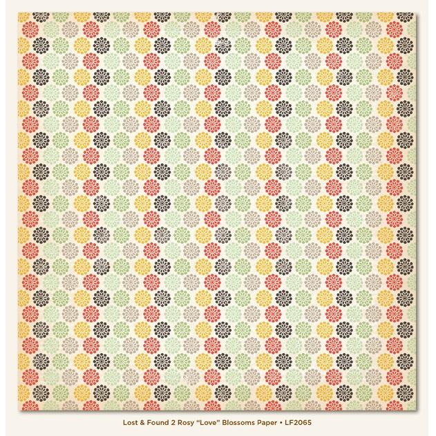 Двусторонняя бумага Blossoms 30х30 см от My Mind's Eye