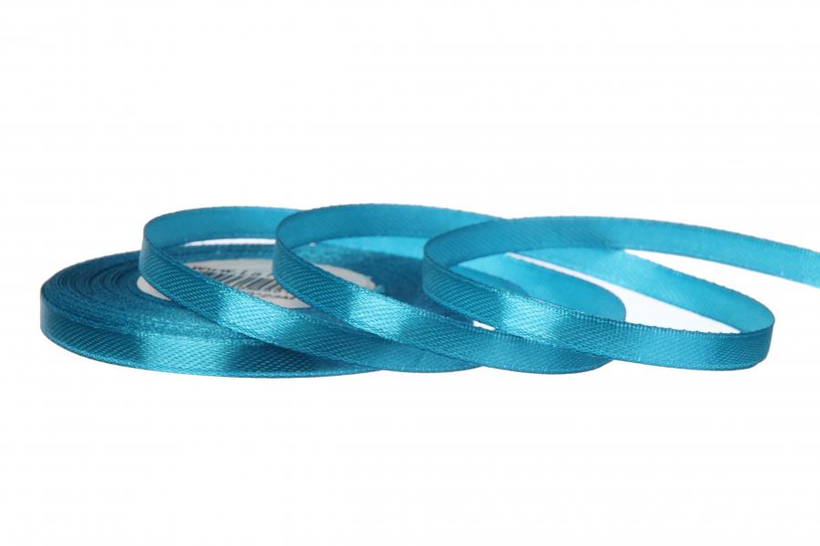 Атласная лента, рулон, #47, синий, 7 мм, 23 м
