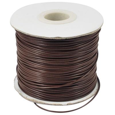 Вощеный шнур цвета кофе , 90 см