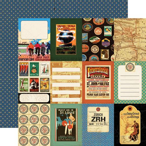Двусторонняя бумага World Traveler 30х30 см от компании Echo Park