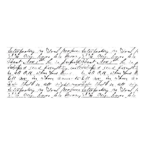 Акриловый штамп Script 13х5 см от Kaisercraft