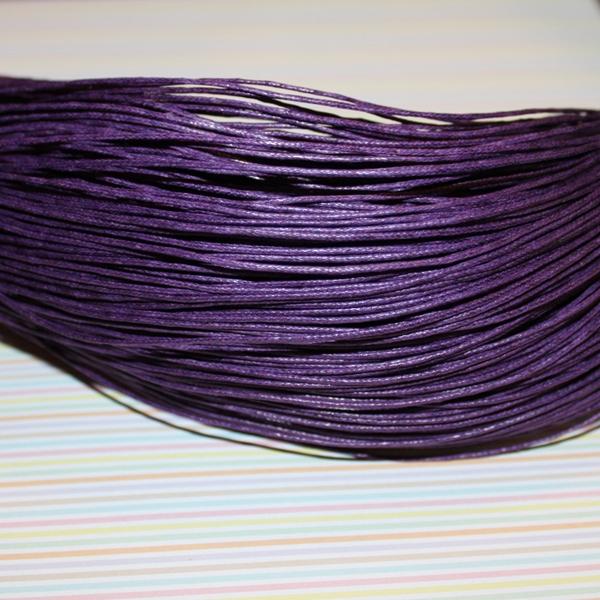 Вощеный шнур фиолетового цвета, 5 м