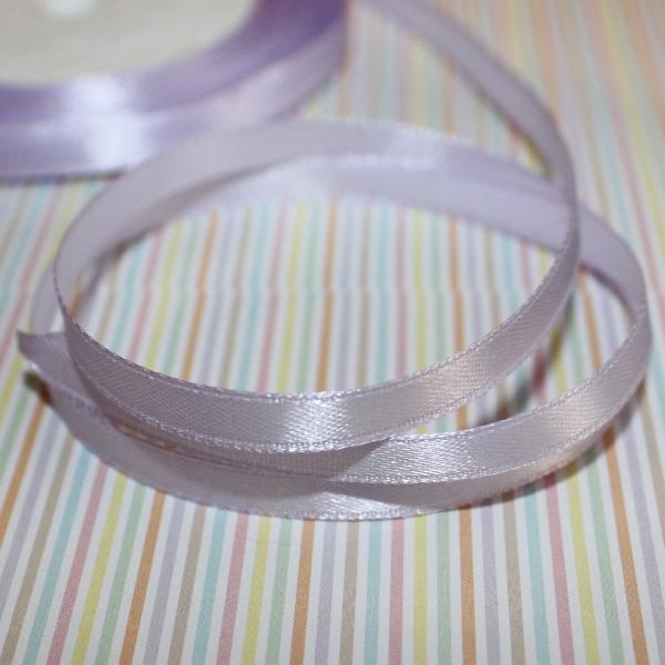 Атласная лента светло-сиреневого цвета, длина 5 м, ширина 6 мм