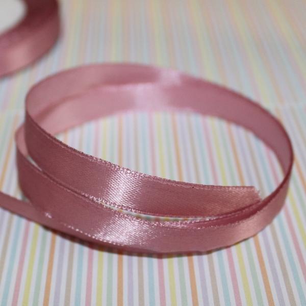 Атласная лента сиреневого цвета, длина 90 см, ширина 10 мм