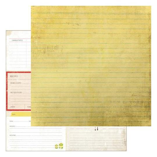 Двусторонняя бумага Homemade 30х30 см от Farm House