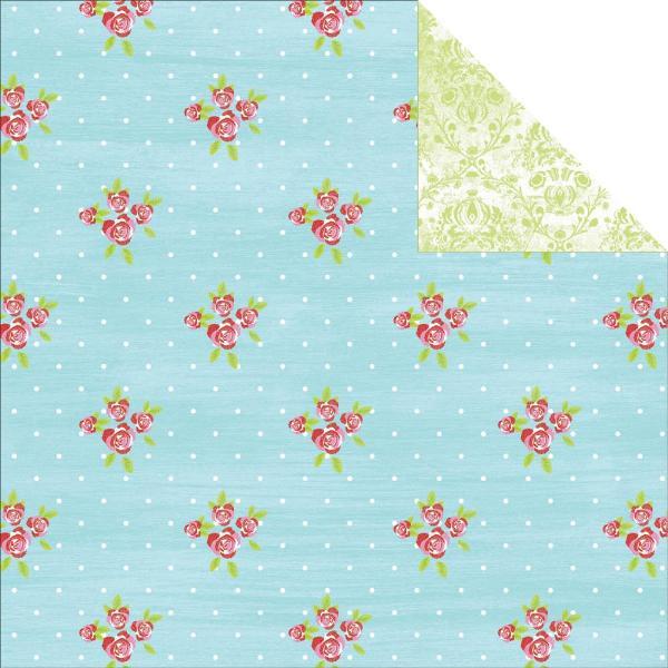 Двусторонняя бумага Raspberry Tart 30х30 см от Kaisercraft