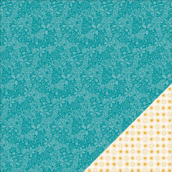Двусторонняя бумага Bright-Eyed 30х30 см от Lawn Fawn
